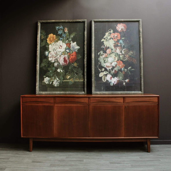 Extra Large Antique Style Floral Panels in Wall Art from Oriana B. www.orianab.com