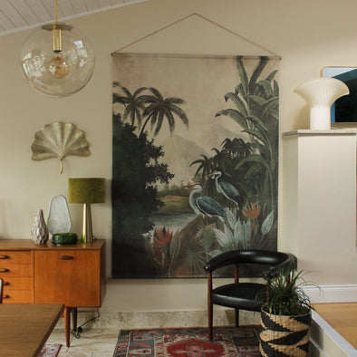 Extra Large Tropical Wall Hanging | 195cm x 150cm in Wall Art from Oriana B. www.orianab.com