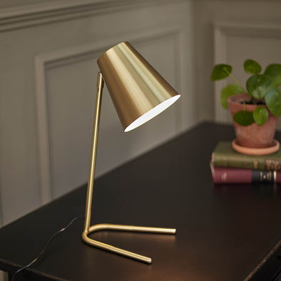 Gold Cone Table Lamp in Lighting from Oriana B. www.orianab.com