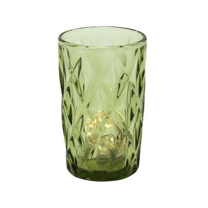 Green Glass | Set of four in Cocktail from Oriana B. www.orianab.com