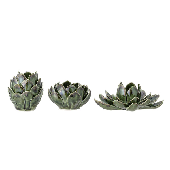 Green Votive Stoneware | Set of 3 in Vases & Plant Pots from Oriana B. www.orianab.com