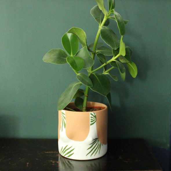 GroupPartner | Leaves Plant Pot Tanned in Vases & Plant Pots from Oriana B. www.orianab.com