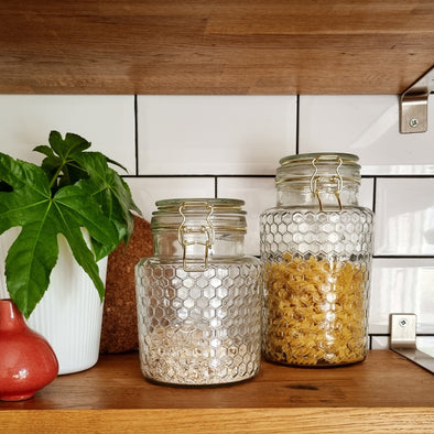 Honeycomb Storage Jar | 2 sizes in from Oriana B. www.orianab.com
