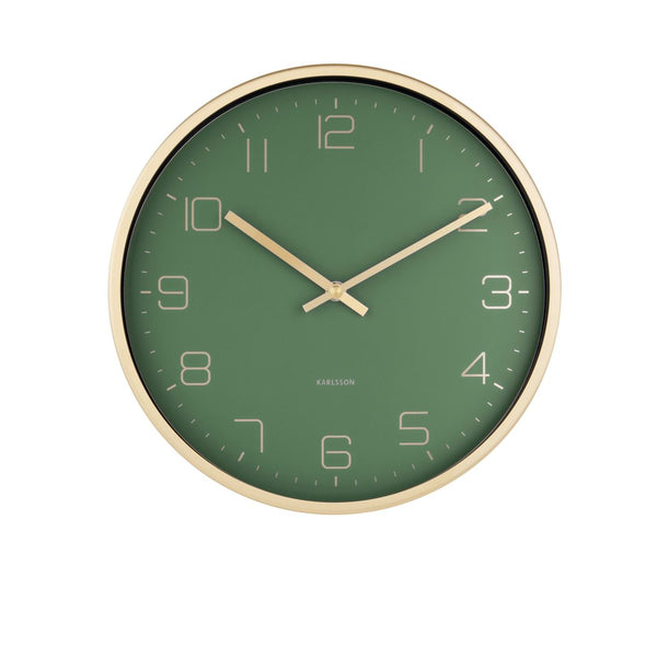 Karlsson | Green Wall Clock in Clocks from Oriana B. www.orianab.com