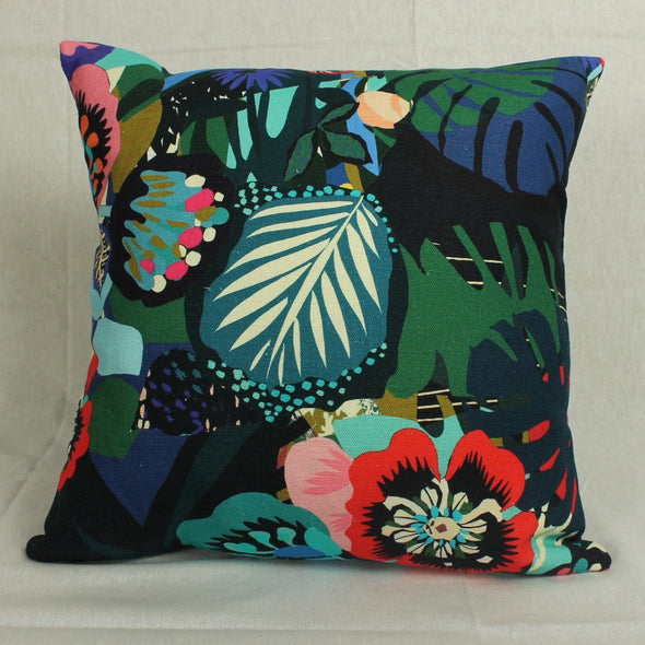 Kitty McCall | Midnight Rose Cushion | 43cm x 43cm in Cushions from Oriana B. www.orianab.com