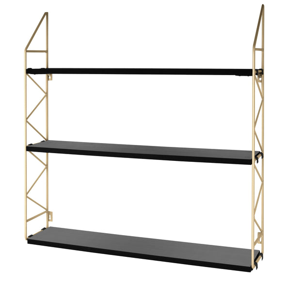 Ladder Wall Shelf | Black and Gold in Storage from Oriana B. www.orianab.com