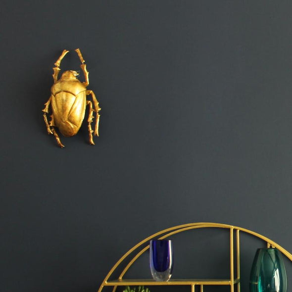 Large Gold Beetle Wall Decor in Wall Art from Oriana B. www.orianab.com