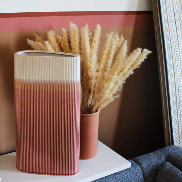 Large Pink Triangular Vase in Vases & Plant Pots from Oriana B. www.orianab.com