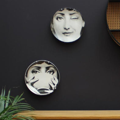 Lina Cavalieri Wall Plates | Black and White in Wall Art from Oriana B. www.orianab.com