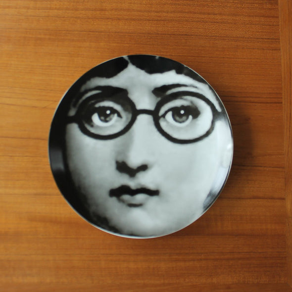 Lina Cavalieri Wall Plates | Black and White in Wall Art Glasses from Oriana B. www.orianab.com