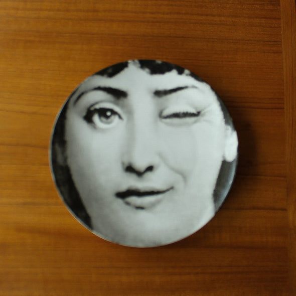 Lina Cavalieri Wall Plates | Black and White in Wall Art Wink from Oriana B. www.orianab.com