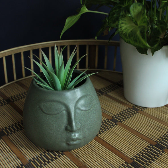 Madam Stoltz | Calming Face Plant Pot in Vases & Plant Pots from Oriana B. www.orianab.com