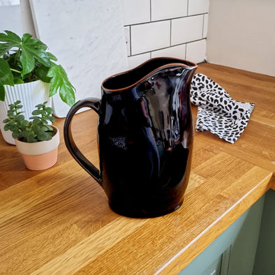 Matte Black Pitcher | 2.5 Litre in from Oriana B. www.orianab.com