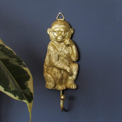 Monkey Hook | Gold in Storage from Oriana B. www.orianab.com