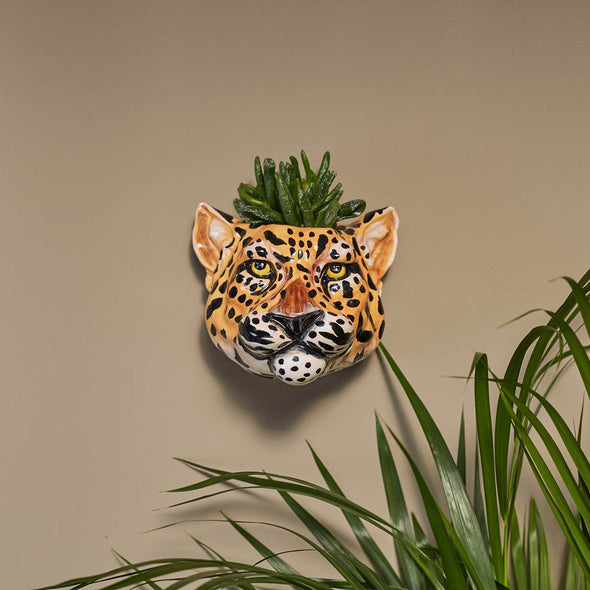Mr Leopard Head | Wall Sconce in Vases & Plant Pots from Oriana B. www.orianab.com