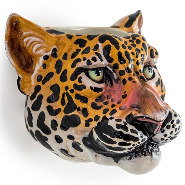 Mr Leopard Head | Wall Sconce Vase in Vases & Plant Pots from Oriana B. www.orianab.com