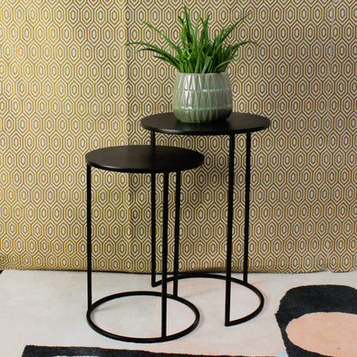 Nest of Charcoal Black Metal Side Tables in Tables from Oriana B. www.orianab.com