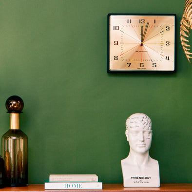Newgate | Mid Century Wall Clock | Gold/Brass in Clocks from Oriana B. www.orianab.com