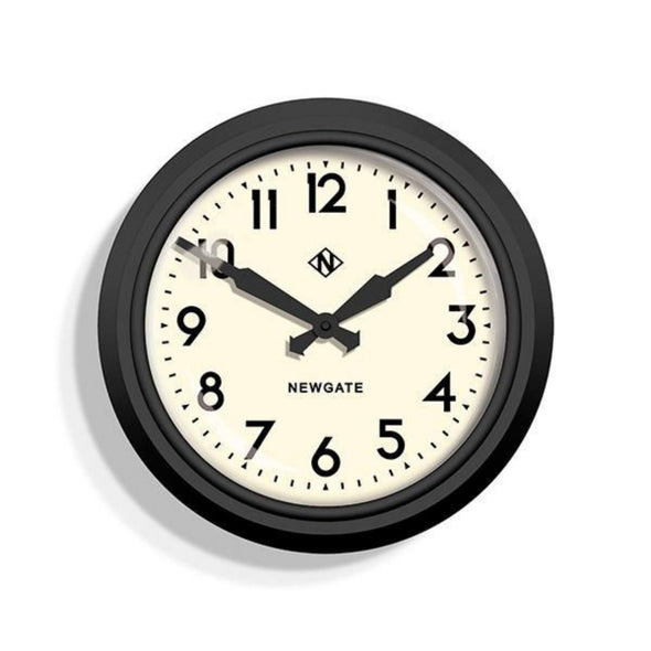 Newgate | The Eletric | Black & Cream | Wall Clock in Clocks from Oriana B. www.orianab.com