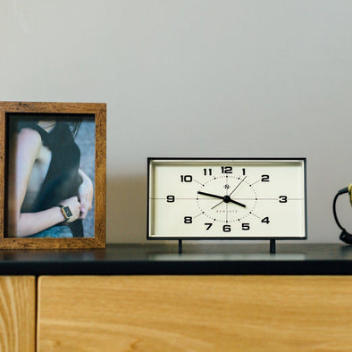 Newgate | Wideboy Alarm Clock | Black in Clocks from Oriana B. www.orianab.com