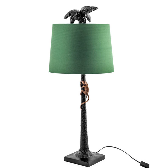 Palm Tree with Climbing Monkey Table Lamp in Lighting from Oriana B. www.orianab.com