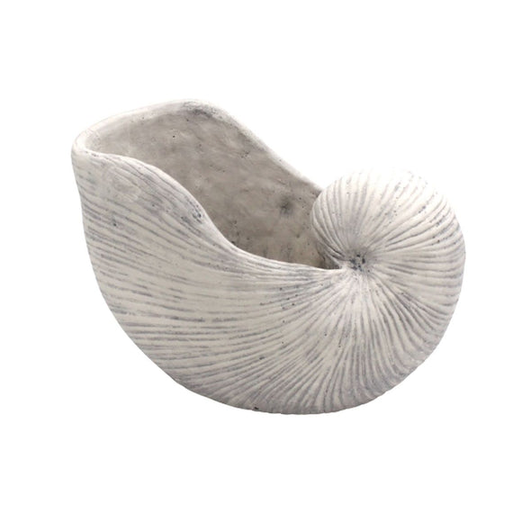Planter Shell | White brushed in Vases & Plant Pots from Oriana B. www.orianab.com