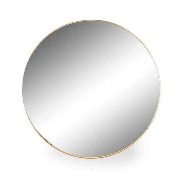 Portland | Round Gold Framed Mirror | 90cm in Mirrors from Oriana B. www.orianab.com