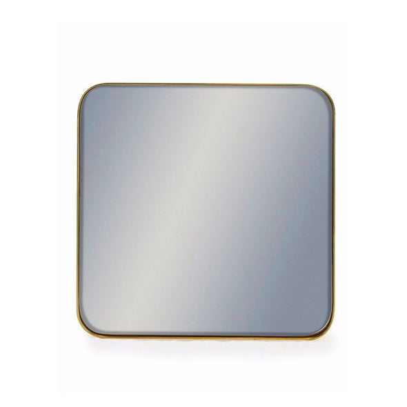Portland | Square Gold Framed Mirror | 50cm in Mirrors from Oriana B. www.orianab.com