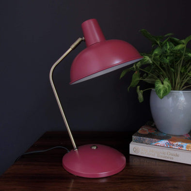 Red desk lamp | Retro style in Lighting from Oriana B. www.orianab.com