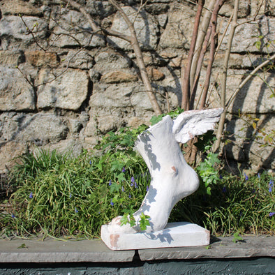 Rustic Stone Effect Winged Foot Planter in Outdoor from Oriana B. www.orianab.com