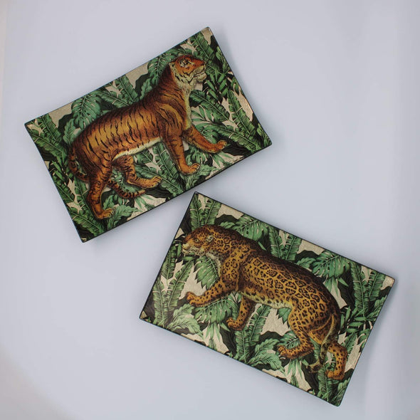 Safari Trinket Dishes | Set of 2 in Ornaments from Oriana B. www.orianab.com