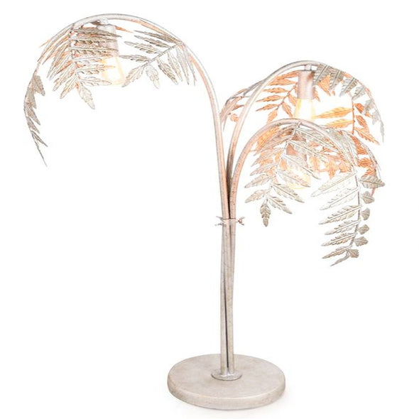 Silver Palm Leaf | Table Lamp in Lighting from Oriana B. www.orianab.com