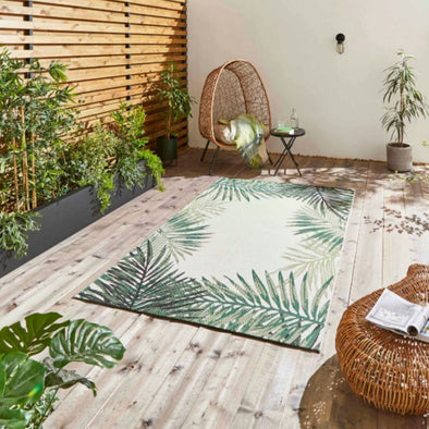 Tropical Leaves | Indoor & Outdoor Rug in Rugs from Oriana B. www.orianab.com