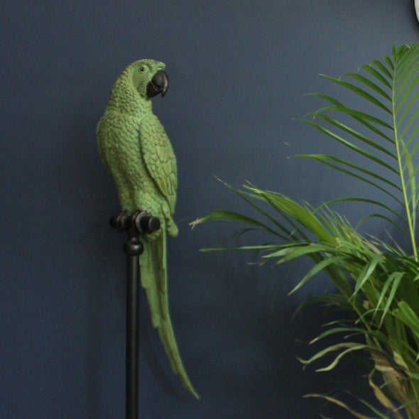 Tropical Parrot on a Stand | 116cm tall in Ornaments from Oriana B. www.orianab.com
