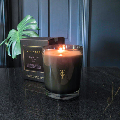 True Grace | Black Lily | Classic Candle in Candles & Holders from Oriana B. www.orianab.com