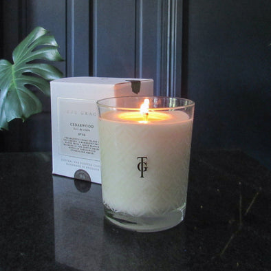 True Grace | Cedarwood | Classic Candle in Candles & Holders from Oriana B. www.orianab.com