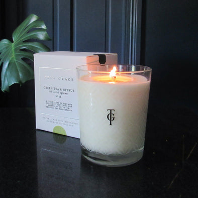 True Grace | Green Tree & Citrus | Classic Candle in Candles & Holders from Oriana B. www.orianab.com