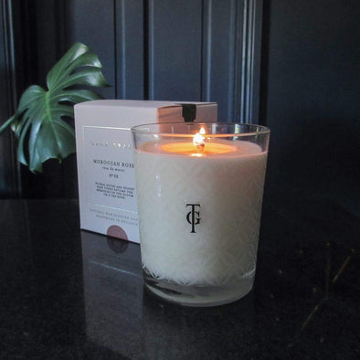 True Grace | Moroccan Rose | Classic Candle in Candles & Holders from Oriana B. www.orianab.com