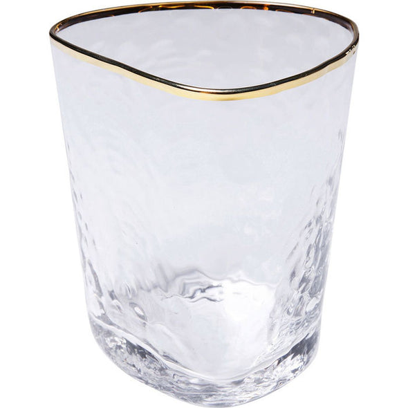 Tumbler Glass with Gold Trim in Christmas from Oriana B. www.orianab.com