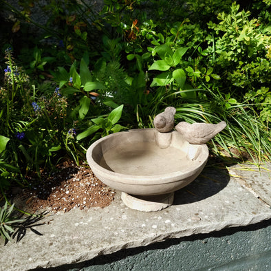 Two Birds Bath in Outdoor from Oriana B. www.orianab.com