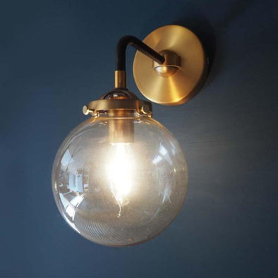 Wall sconce | 1 glass dome in Lighting from Oriana B. www.orianab.com