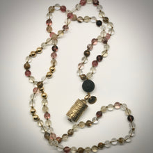Load image into Gallery viewer, Earth Star 2- 108 bead prayer mala