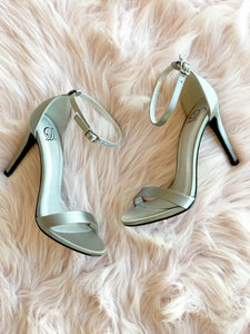 Silk Ankle Strap Heels (2 Colors)