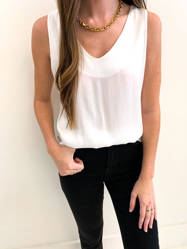 The Audrey Tank White