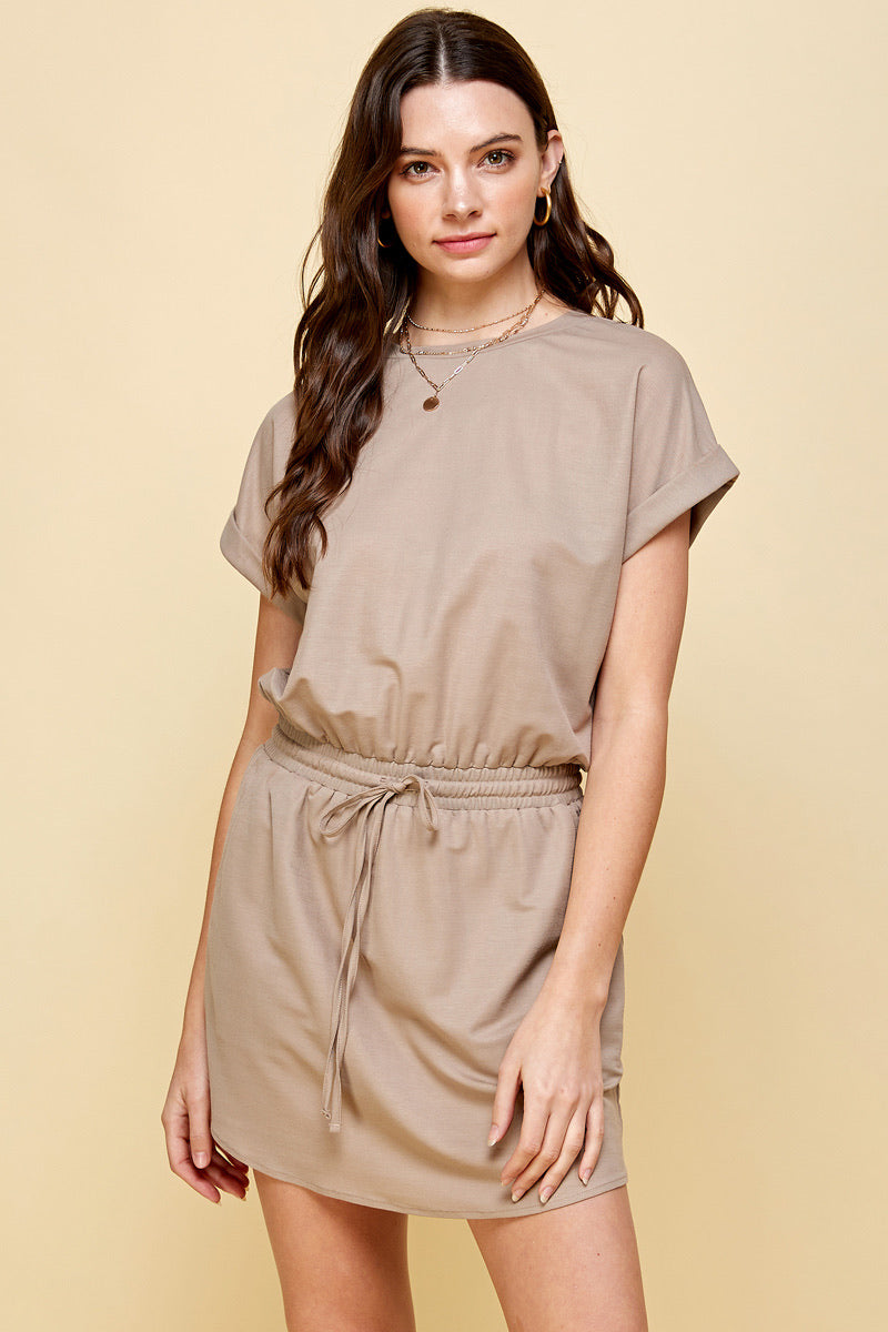 Luna Drawstring Dress