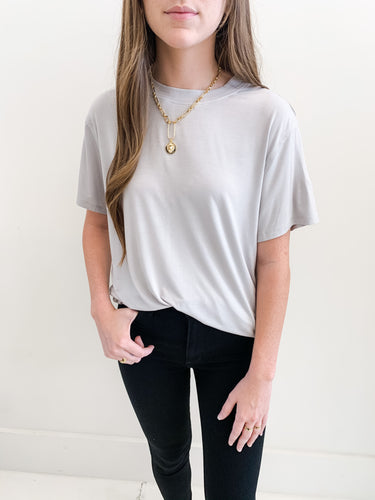 Grey Boyfriend Oversized Tee