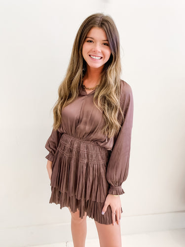 The Brielle Dress Deep Mauve