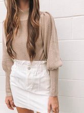White Denim Paperbag Skirt