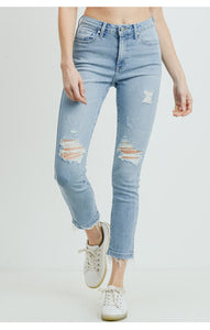 Light Wash Destruct Skinny
