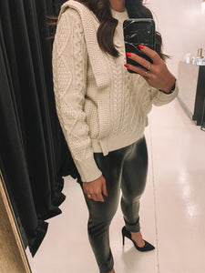 Lacey Cable Sweater